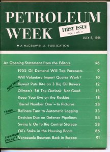 Petroleum Weekly #1 7/8/1955-McGraw-Hill-1st issue-historic oil business mag-...