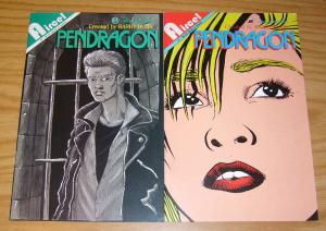 Pendragon #1-2 VF- complete series - barry blair - aircel comics set lot 1991