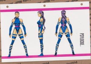 Official Handbook of the Marvel Universe Sheet- Psylocke