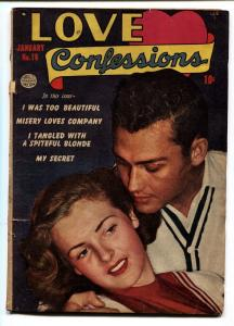 Love Confessions #16 comic book 1952- Golden Age Romance- Misery Loves Company