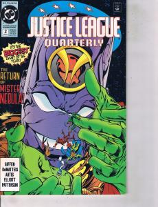 Lot Of 2 Comic Books DC Justice League Quarterly #2 and Legion '90 #1  LH24