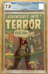 ADVENTURES INTO TERROR #6 CGC 7.0 -- 2ND HIGHEST GRADE! O/W to W PAGES! ATLAS