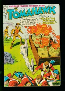 TOMAHAWK #27 1954- DC WESTERN - REDCOAT COVER - GOLDEN AGE FN