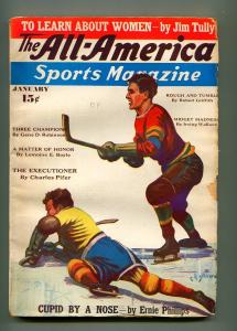 ALL AMERICAN SPORTS JANUARY 1937-ALL AMERICAN PERIODICALS-VG