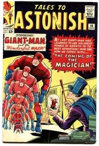 TALES TO ASTONISH #56 1964-MARVEL-GIANT-MAN VS THE MAGICIAN-VF-