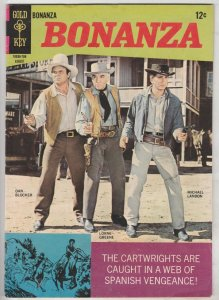 Bonanza #25 (Aug-67) VF+ High-Grade Lorne Green, Michael Landon, Dan Blocker
