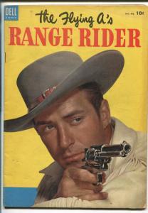 RANGE RIDER #4 1954-DELL-JOCK MAHONEY TV PHOTO COVER-FLYING A'S-vg+