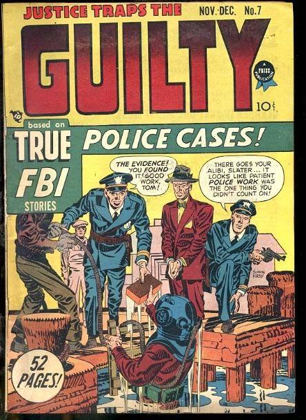 JUSTICE TRAPS THE GUILTY #7 JACK KIRBY COVER & STORY FN