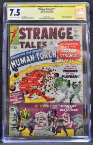 Strange Tales #121 (Marvel, 1964) CGC 7.5 SS Stan Lee