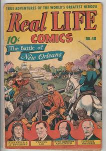 Real Life Comcs #40 (Jul-47) VG/FN Mid-Grade Louis Daguerre, Kate Smith, Clar...