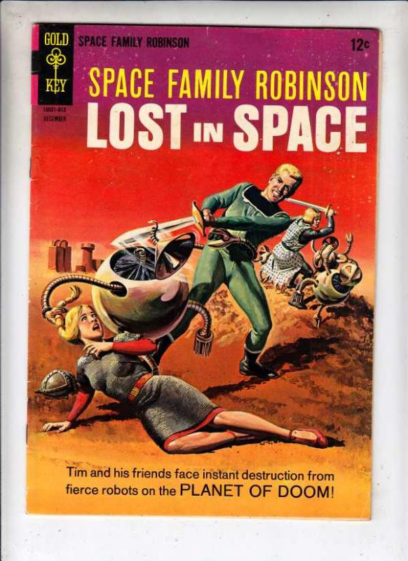 Space Family Robinson, Lost in Space #19 (Dec-66) VF High-Grade Will Robinson...