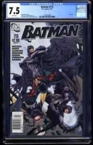 Batman #713 CGC VF- 7.5 White Pages