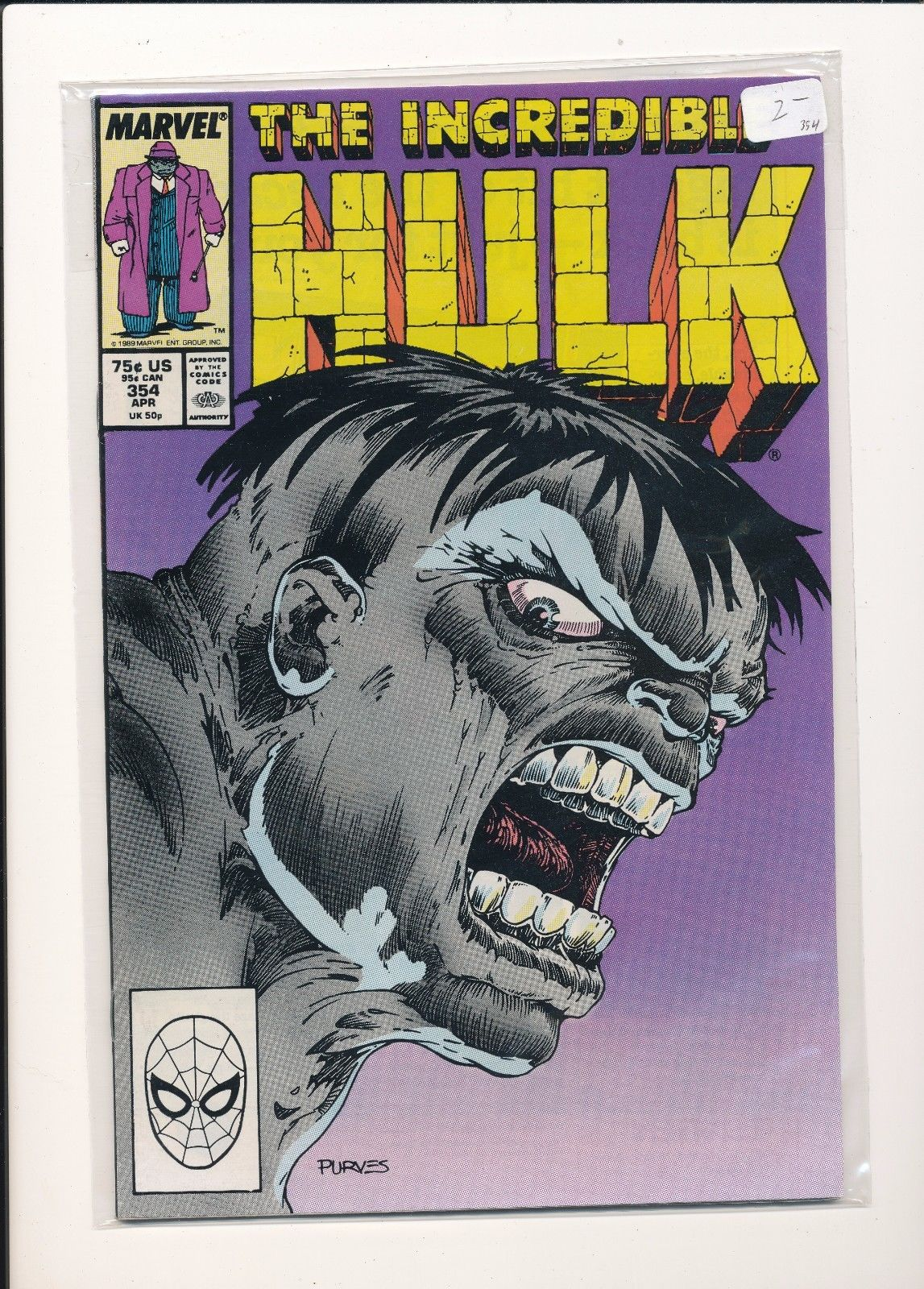 Incredible Hulk #354 FN 1989 Stock Image