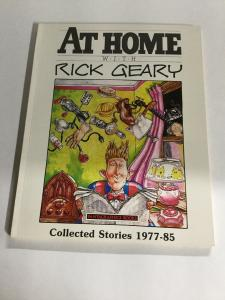 At Home With Rick Geary Collected Stories 1977-1985 Oversized SC Softcover B19