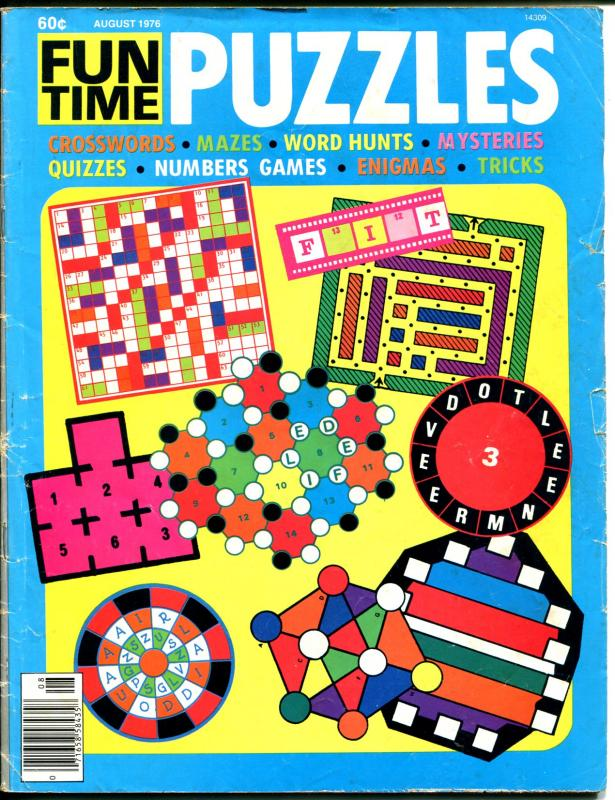 Funtime Puzzles 8/1976-16 Magazine-comic pages-cartoons-G