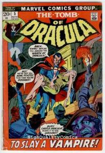TOMB of DRACULA #5, VG+, Vampire, Death, Gardner Fox, 1972, more TOD in store
