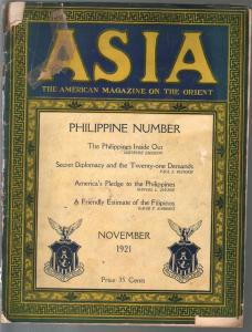 Asia 11/1921-Phillppines issue-pulp thrills-pix-illustrations-ads-FR