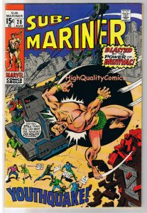 SUB-MARINER #28, FN, YouthQuake, Sal Buscema, 1968, more in store