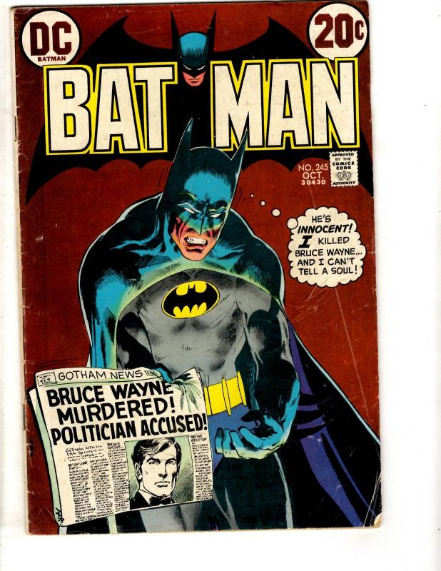 Batman # 245 VG/FN DC Comic Book Bronze Age Series  TD7