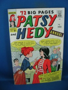 PATSY AND HEDY ANNUAL 1 VG F SCARCE 1963 MARVEL