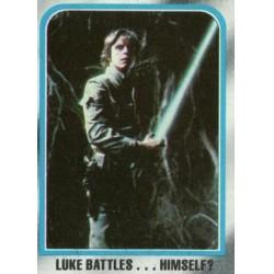 1980 Topps Star Wars The Empire Strikes Back LUKE BATTLES...HIMSELF? #247 EX