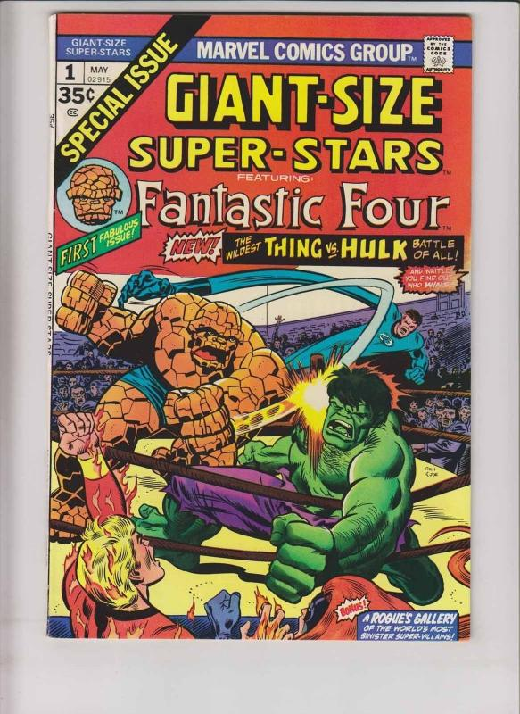Giant-Size Super-Stars #1 VF- fantastic four HULK VS THING marvel comics bronze