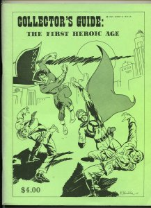 COLLECTOR'S GUIDE: THE FIRST HEROIC AGE #1-1969-JERRY  BAILS-1ST EDITION-fn/vf