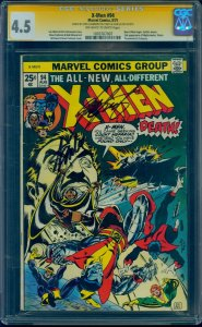 X-Men #94 CGC 4.5 SS OW/W 2x Signed by Stan Lee & Chris Claremont!