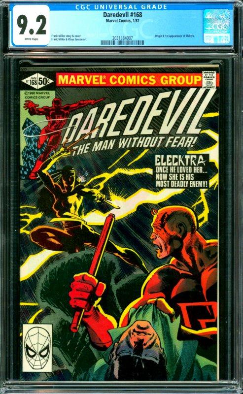 Daredevil #168 CGC Graded 9.2 Origin and 1st appearance of Elektra