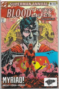 Superman   vol. 2  Annual   # 5 FN (Bloodlines: Outbreak)