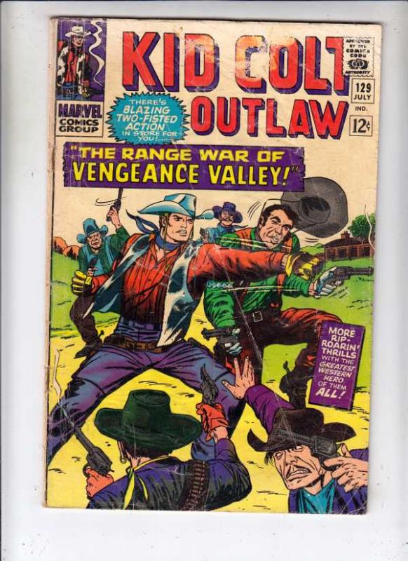 Kid Colt Outlaw #129 (Jul-66) GD/VG Affordable-Grade Kid Colt
