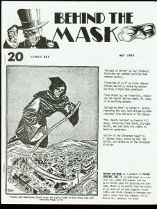 BEHIND THE MASK 1993 #20-PULP FANZINE-CRIMSON MASK FN
