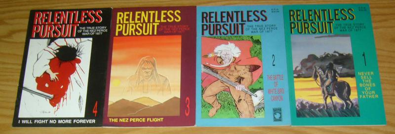 Relentless Pursuit #1-4 VF/NM complete series - true story of nez perce war 1877