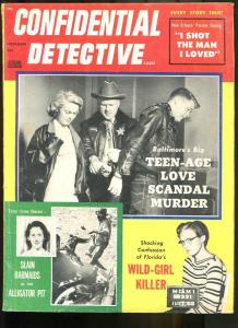 CONFIDENTIAL DETECTIVE CASES NOV 1957-FLORIDA'S WILD GIRL KILLER! VG
