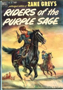 Riders of The Purple Sage-Four Color Comics #372 1952-Dell-Zane Grey-VG