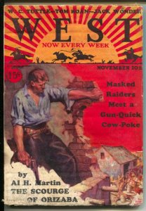 West 11/10/1928-Edgar F  Wittmack cover-pulp thrills-W.C. Tuttle-Tom Roan-G