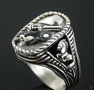 Lone ranger silver bullet ring sterling silver