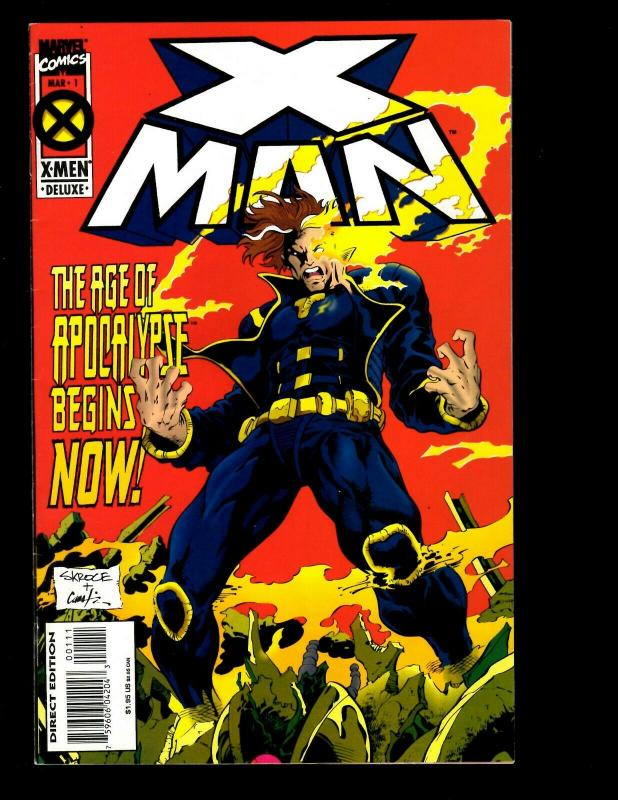 14 X-Man Marvel Comics # 1 2 3 4 5 6 7 8(2) 9 10(2) 11 12 X-Men Wolverine EK10