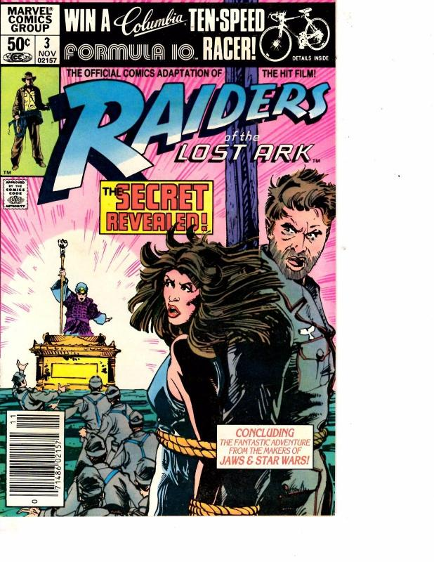 Lot Of 2 Marvel Comic Books Raiders of the Lost Ark #1 and #3    ON3