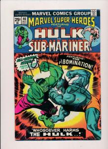 Marvel Super-Heroes ft.THE INCREDIBLE HULK and Sub-Mariner #46  FINE (SRU541)