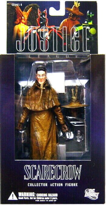DC Direct Justice League Scarecrow Figure - Series 6 - Mint in Box