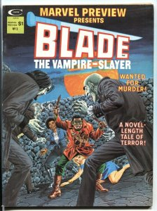 MARVEL PREVIEW #3 1975 1st appearance of Afari, Blade's mentor