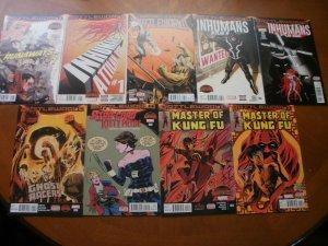 9 Marvel BATTLEWORLD Comic: RUNAWAYS #1 INHUMANS #1 4 5 GHOST RACERS KUNG FU 3 4