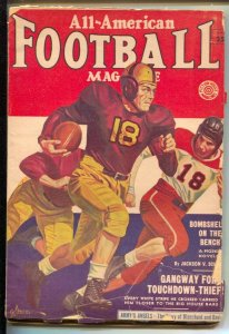 All-American Football-Fall 1953-George Gross old style helmets & uniforms cov...