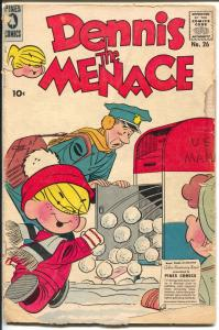 Dennis The Menace #26 1958-Pines-mailman prank cover-classic humor-G