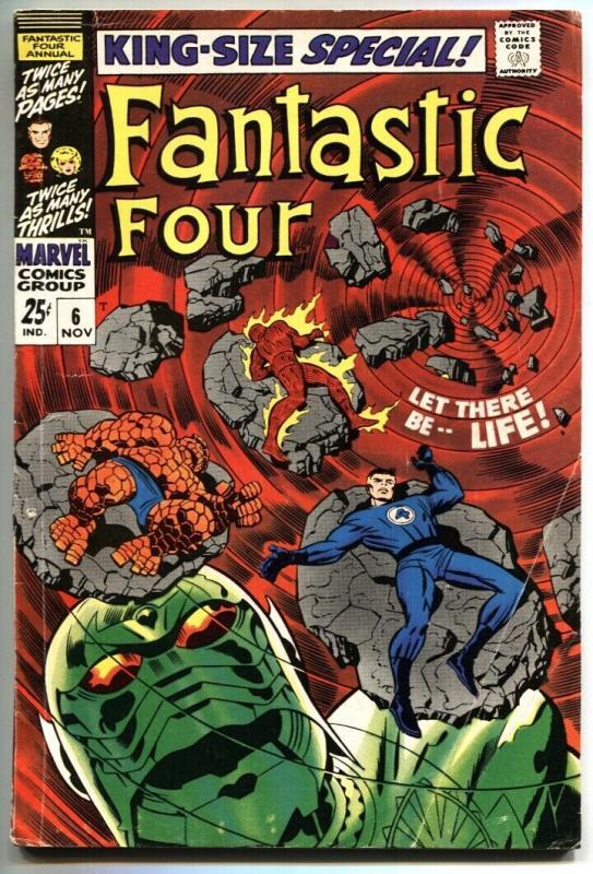 FANTASTIC FOUR ANNUAL #6 1st Annihilus/Franklin Richards VG