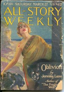 All-Story Weekly 3/27/1920-rare pulp-Tarzan-ERB-Modest Stein cover-G-