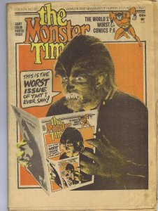 ORIGINAL Vintage 1974 The Monster Times Horror Newspaper Magazine #30 Werewolf