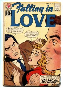 FALLING IN LOVE #45 comic book 1961-DC ROMANCE COMIC-10 CENT ISSUE VG-