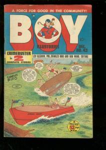 BOY COMICS #43 1948-CHARLES BIRO-CRIMEBUSTER-DAREDEVIL VG/FN